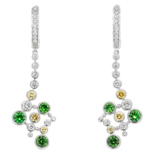 Demantoid earrings