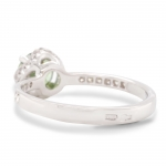 1.14 ct Demantoid White Gold Ring with Diamonds