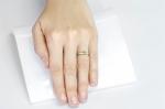 0.34 ct Demantoid White Gold Ring with Diamonds