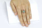 Emerald Spinel Yellow Gold Ring