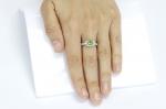 0.84 ct Demantoid White Gold Ring with Diamonds